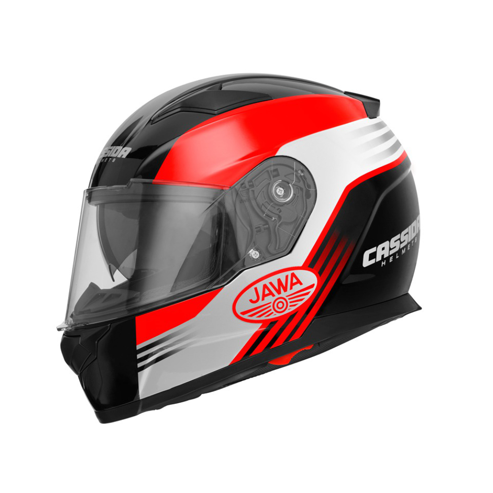 Helmet (XL) APEX JAWA OHC, CASSIDA (RED-BLACK)