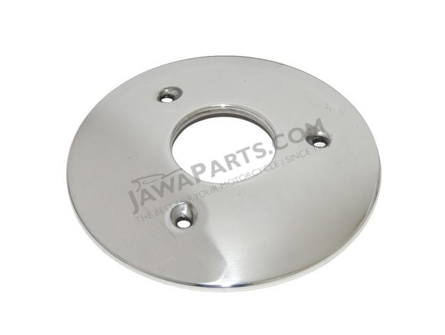 Cover of wheel hub, FRONT (POLISHED) - JAWA 50 555,05