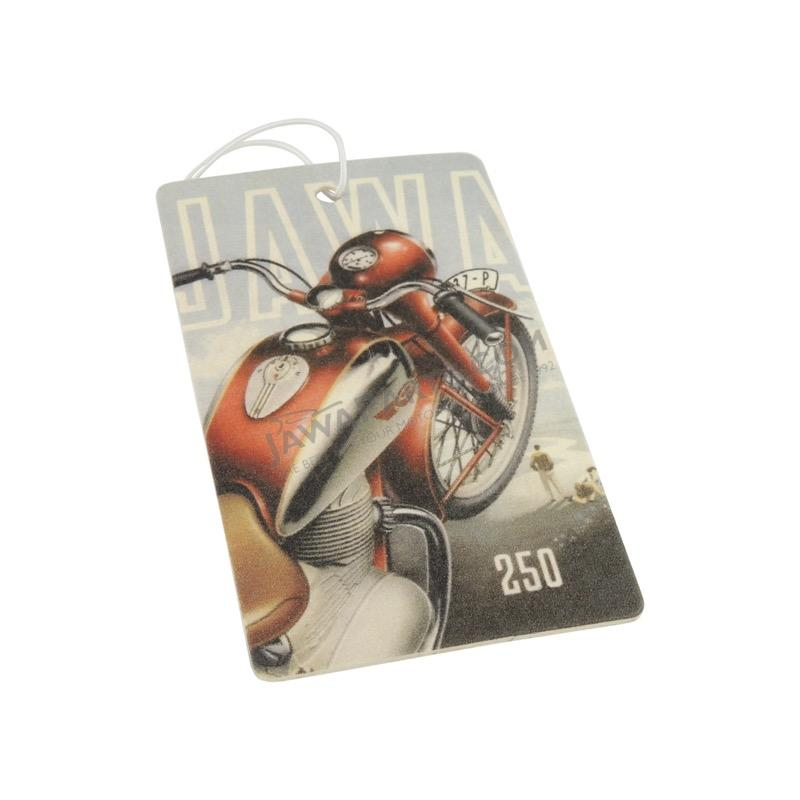 A hand-perfumed aromatic car card - JAWA 250