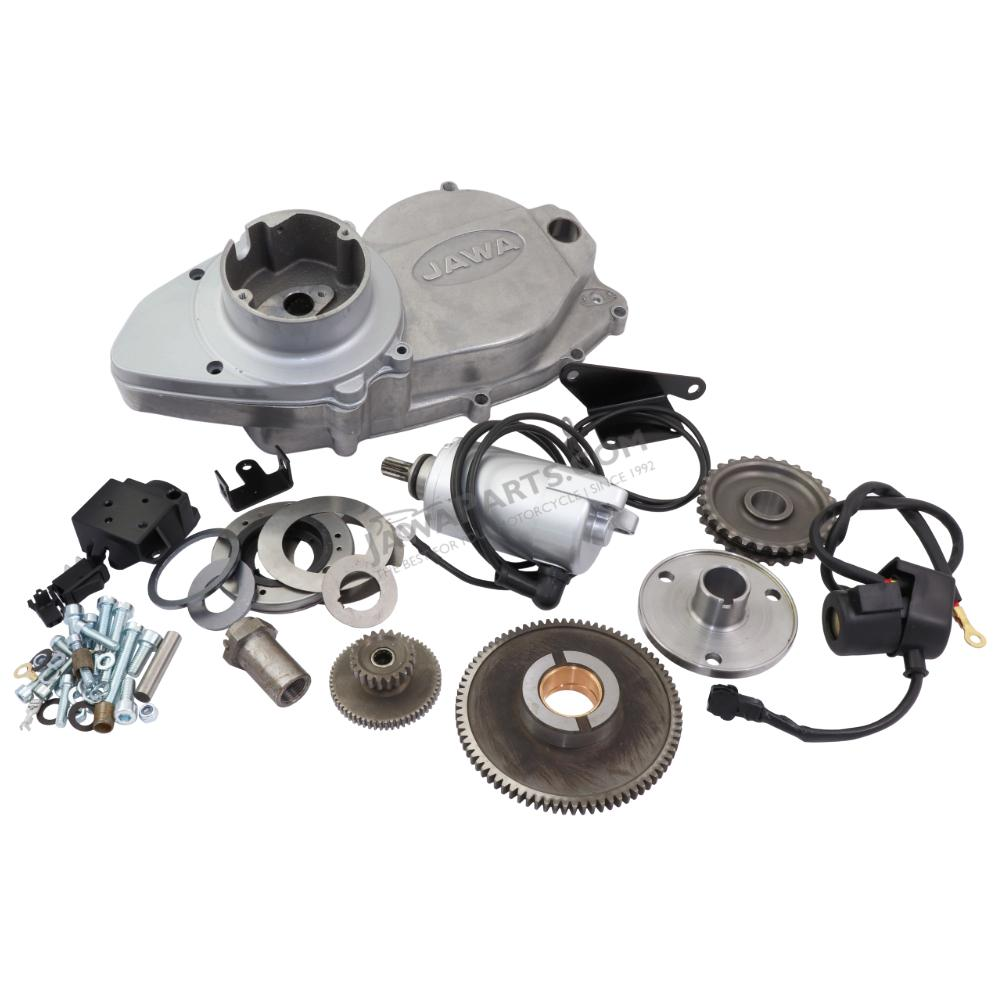 Set of parts for electric starter - JAWA 350 638-640