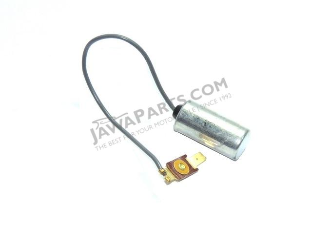 Capacitor with connector JAWA/CZ