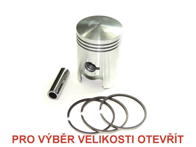 Piston set 52,00 (pin 18) - JAWA-ČZ 125, ČZ 125