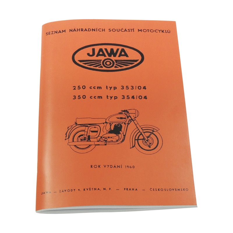 Catalog of spare parts - JAWA 250/350 Kývačka