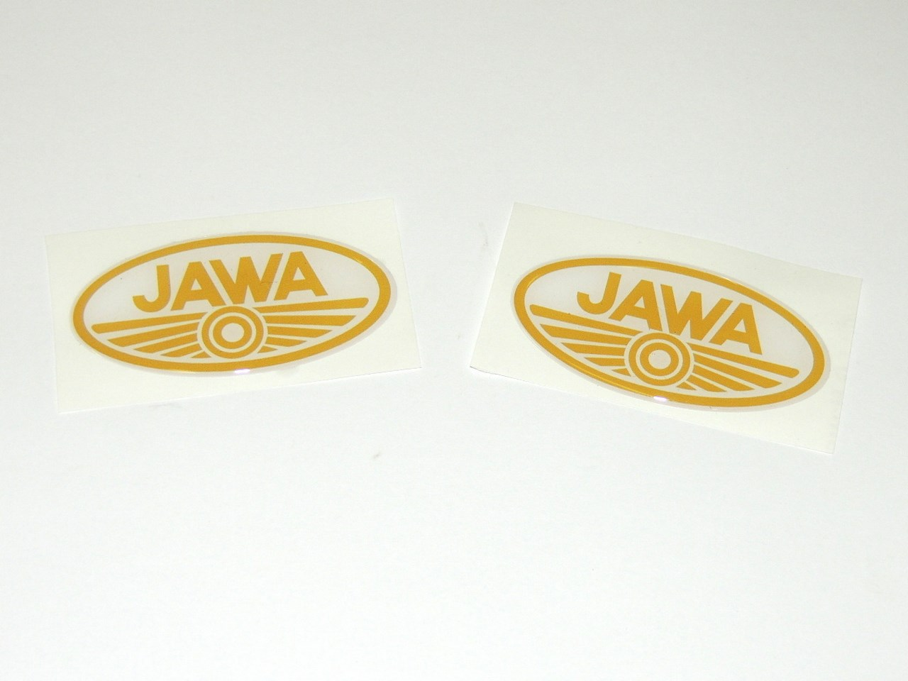 Sticker Jawa oval 3D-GOLD 7cm-2pcs