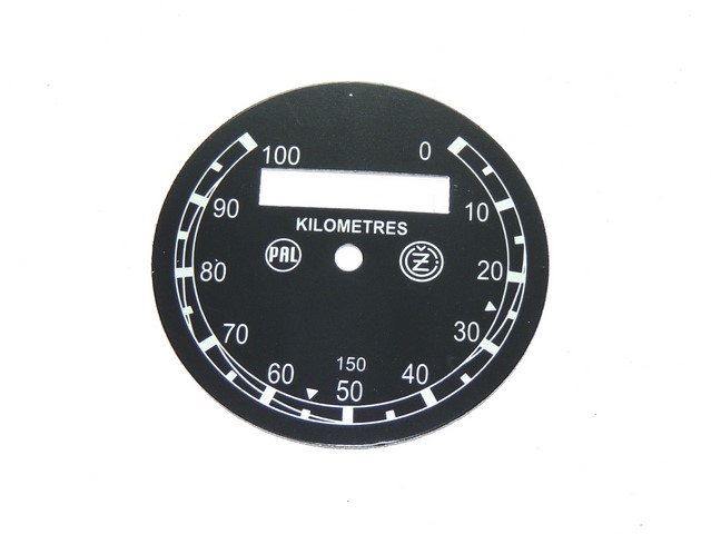 Dial of speedometer 100 km/h (PAL-ČZ) - ČZ 125/150
