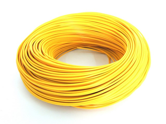 Cable 0,75 mm - YELLOW (price per meter)