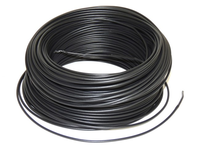 Cable 0,75 mm - BLACK (price per meter)