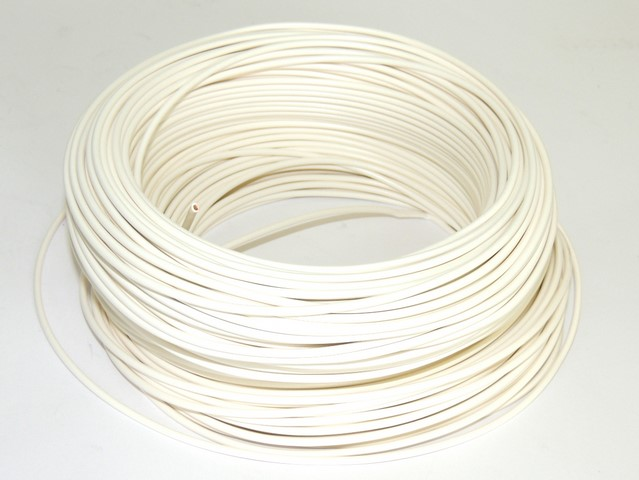 Cable 0,75 mm - WHITE (price per meter)