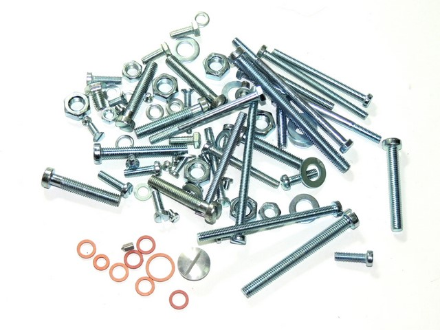 Set of engine screws - Jawa 350 Kývačka