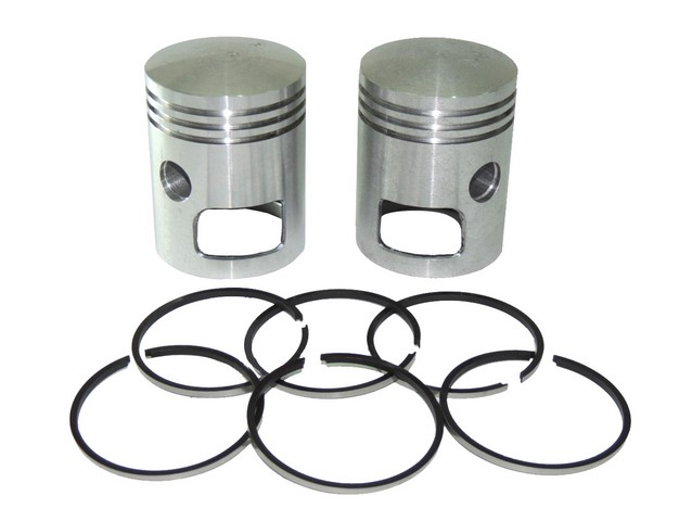 Piston set R+L with rings 58,00, tenon 16 - Jawa 350
