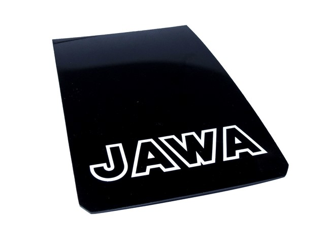 Apron of mudguard JAWA, white contour inscription JAWA