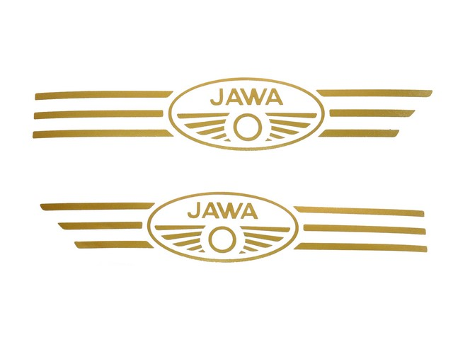 Set of stickers for fuel tank, GOLD - Kývačka, Panelka