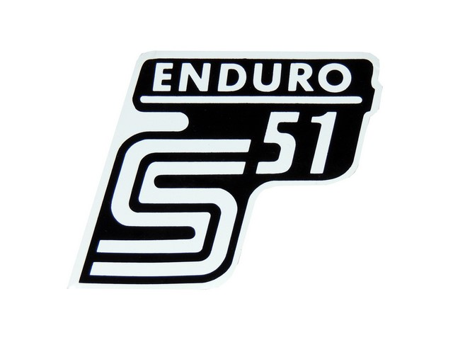 Sticker of cover ENDURO, WHITE - Simson S51