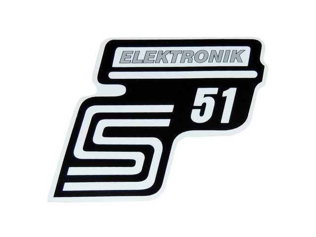 Sticker of cover ELEKTONIK, SILVER 1 - Simson S51