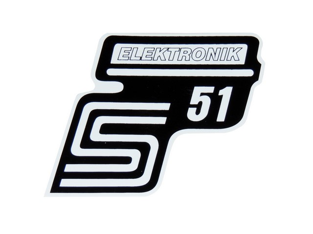 Sticker of cover ELEKTONIK, WHITE  - Simson S51