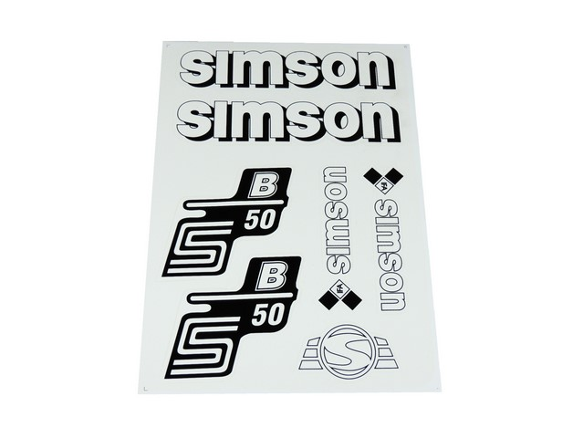Stickers set S50 B (IFA), WHITE - Simson S50