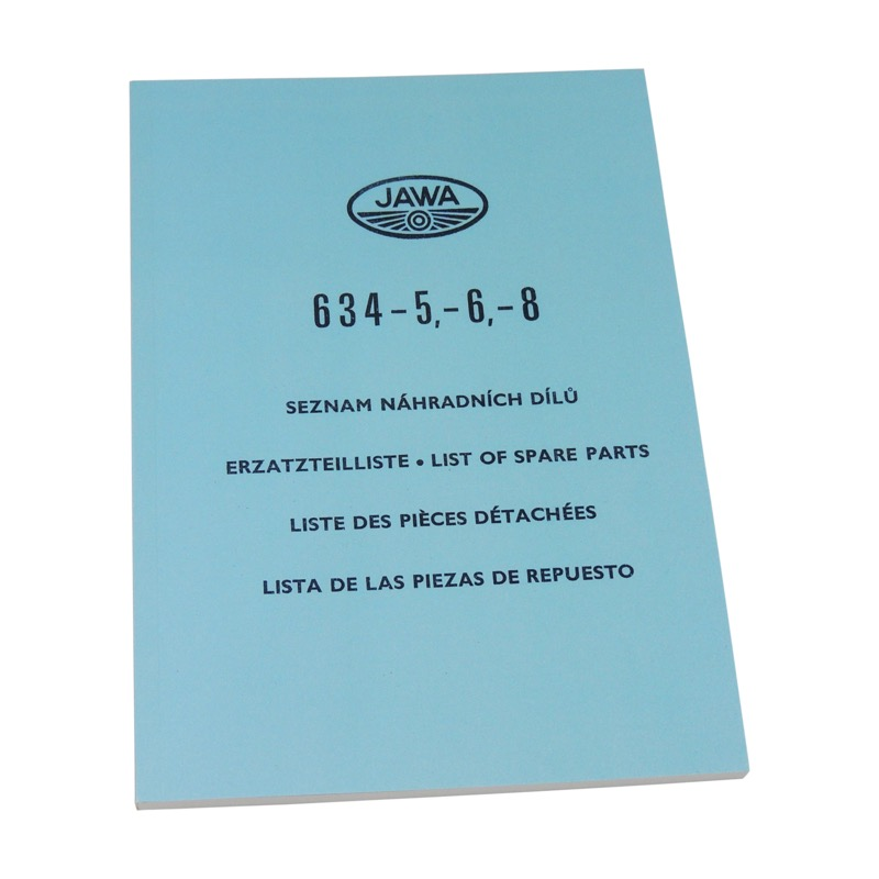 Catalog of spare parts - JAWA 350 634