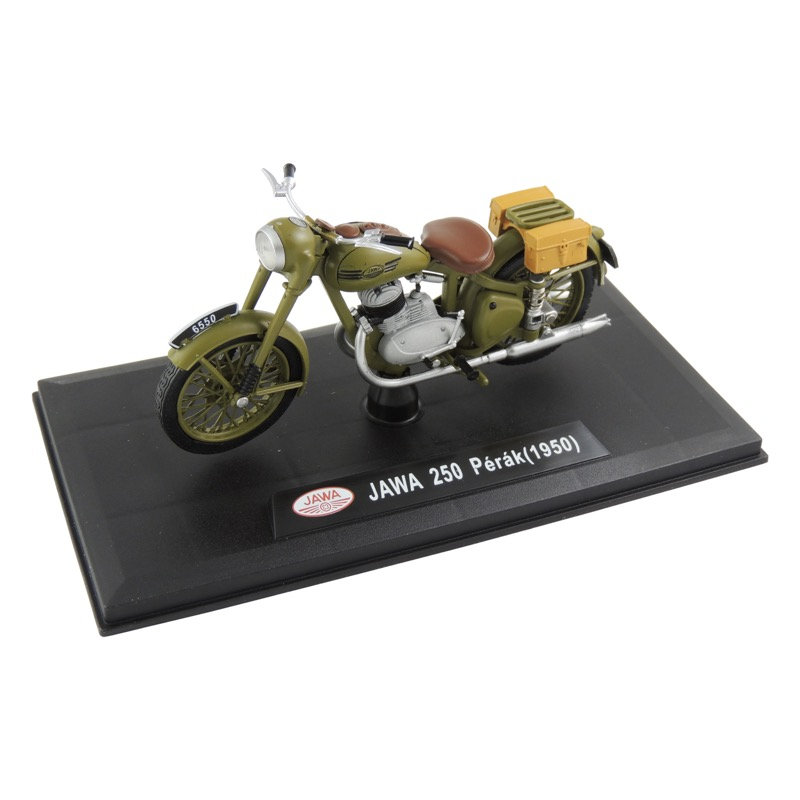 Model JAWA 250 Pérák (1948) 1:18, MILITARY GREEN