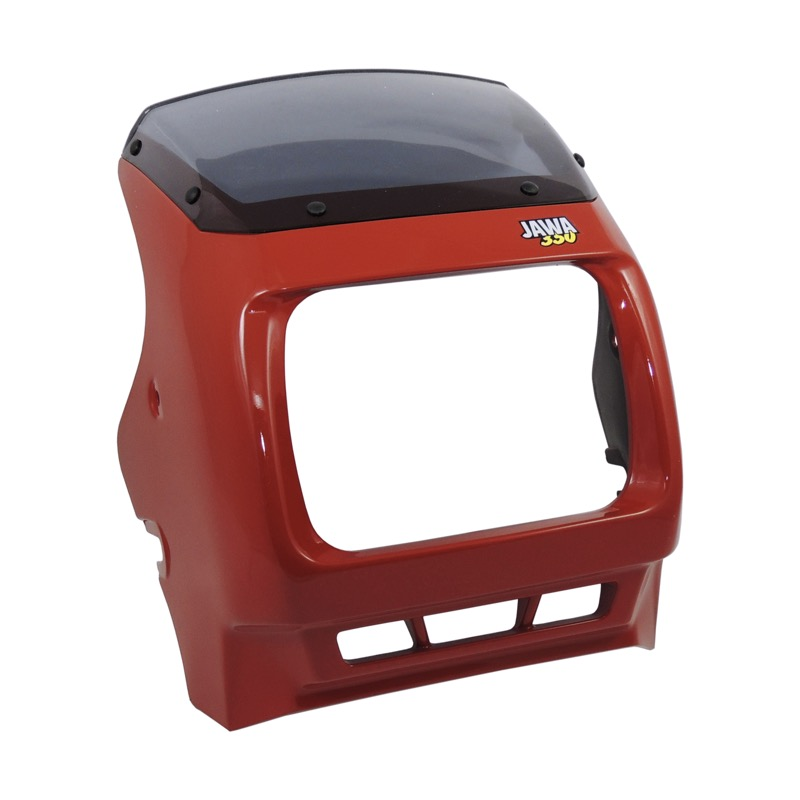 Mask of front lamp, complete RED - JAWA 350 640