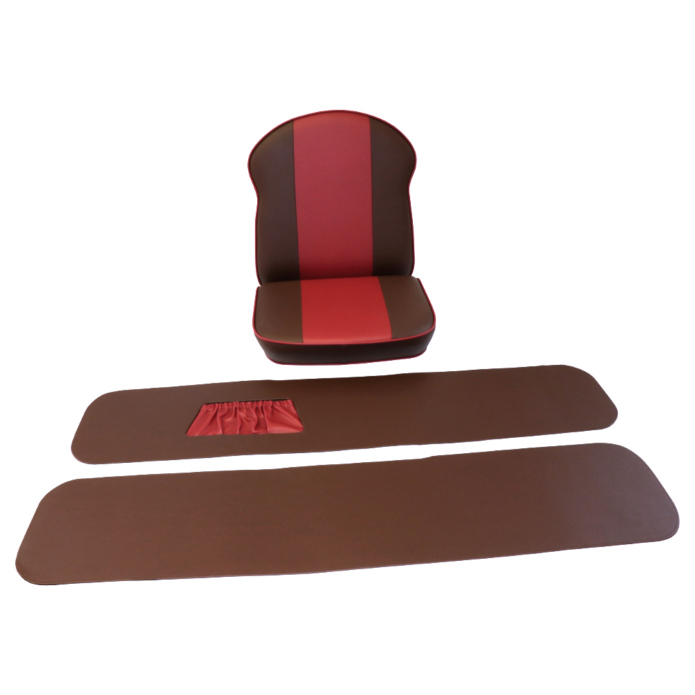 Seat + backrest, complete (BROWN RED) - Velorex 560,562