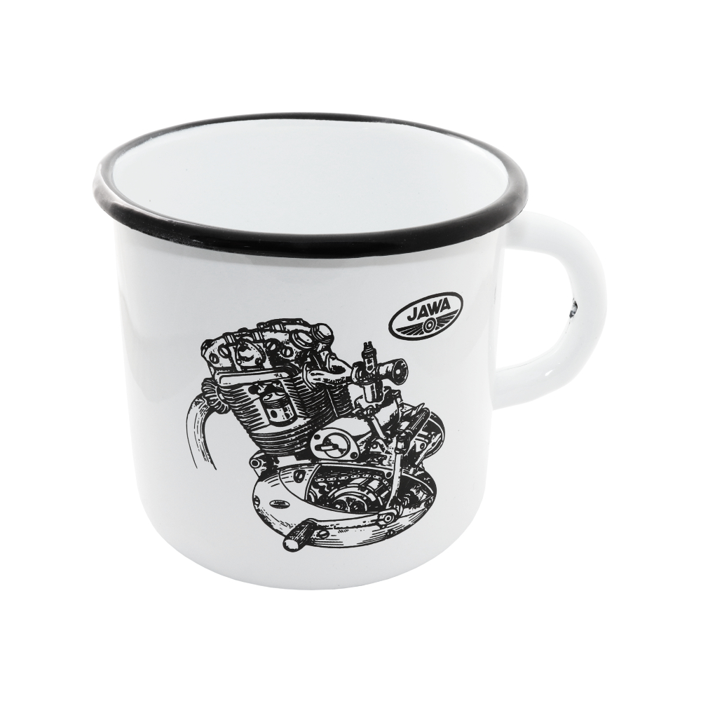 Tin Mug (400 ml) - Engine of JAWA 500 OHC