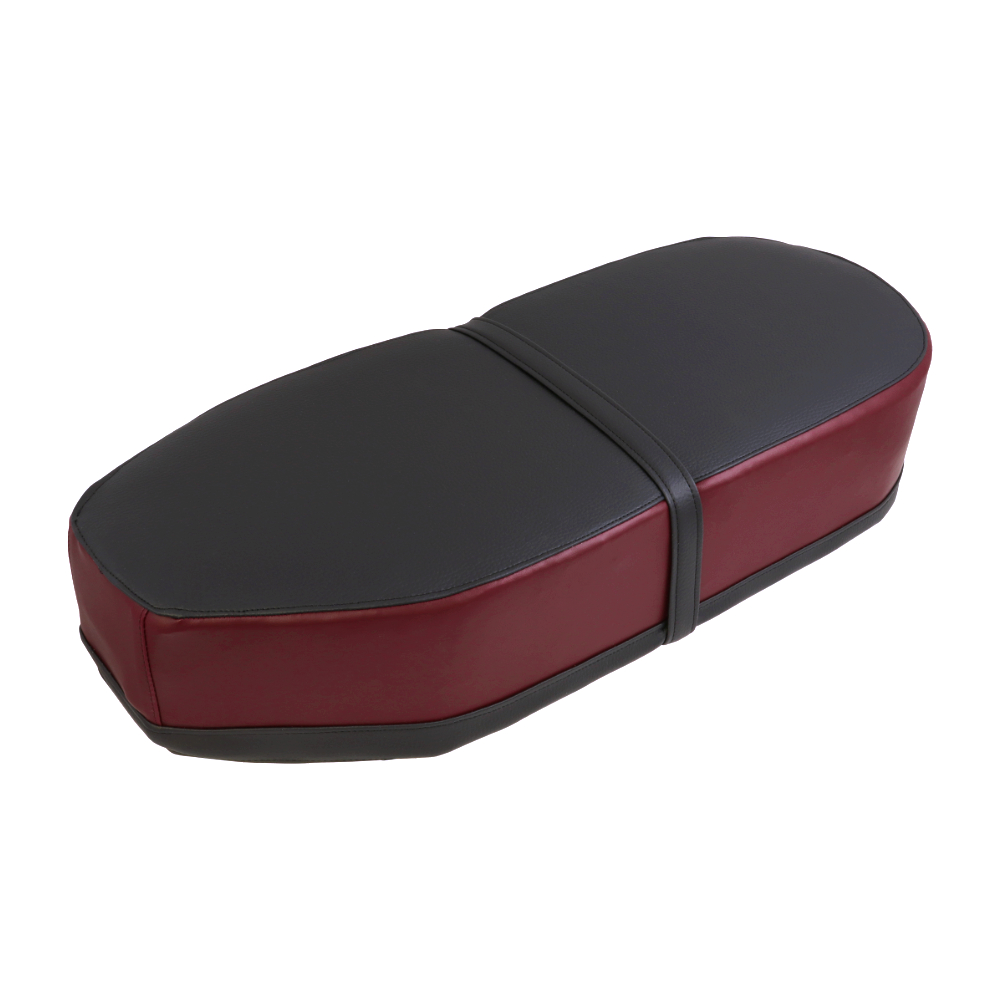 Seat cover (straight),  RED/BLACK - JAWA Panelka, ČZ