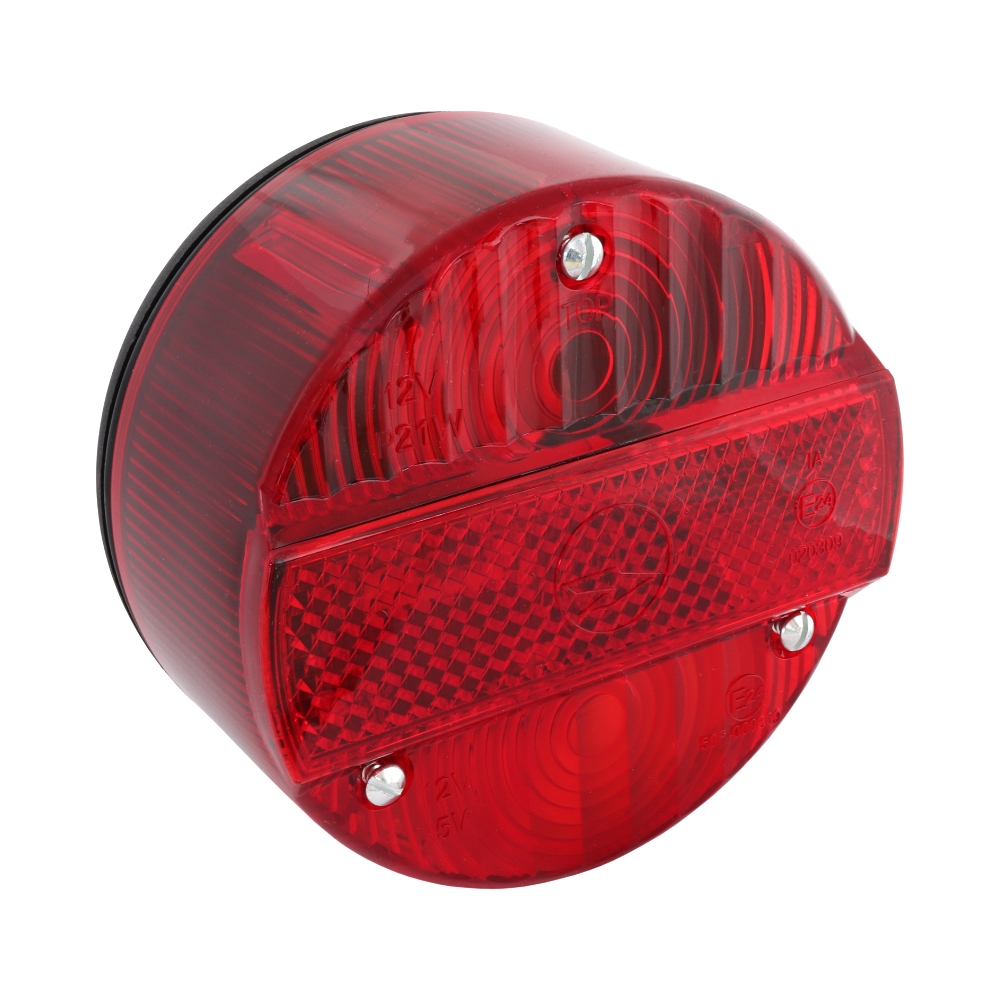 Rear lamp (round), complete (MZA) - Simson, MZ