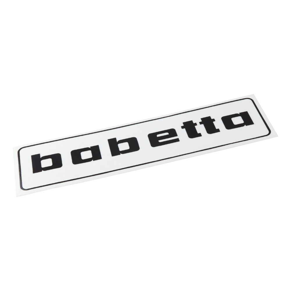 "Sticker ""babetta"", BLACK (140x37mm) - Babetta"