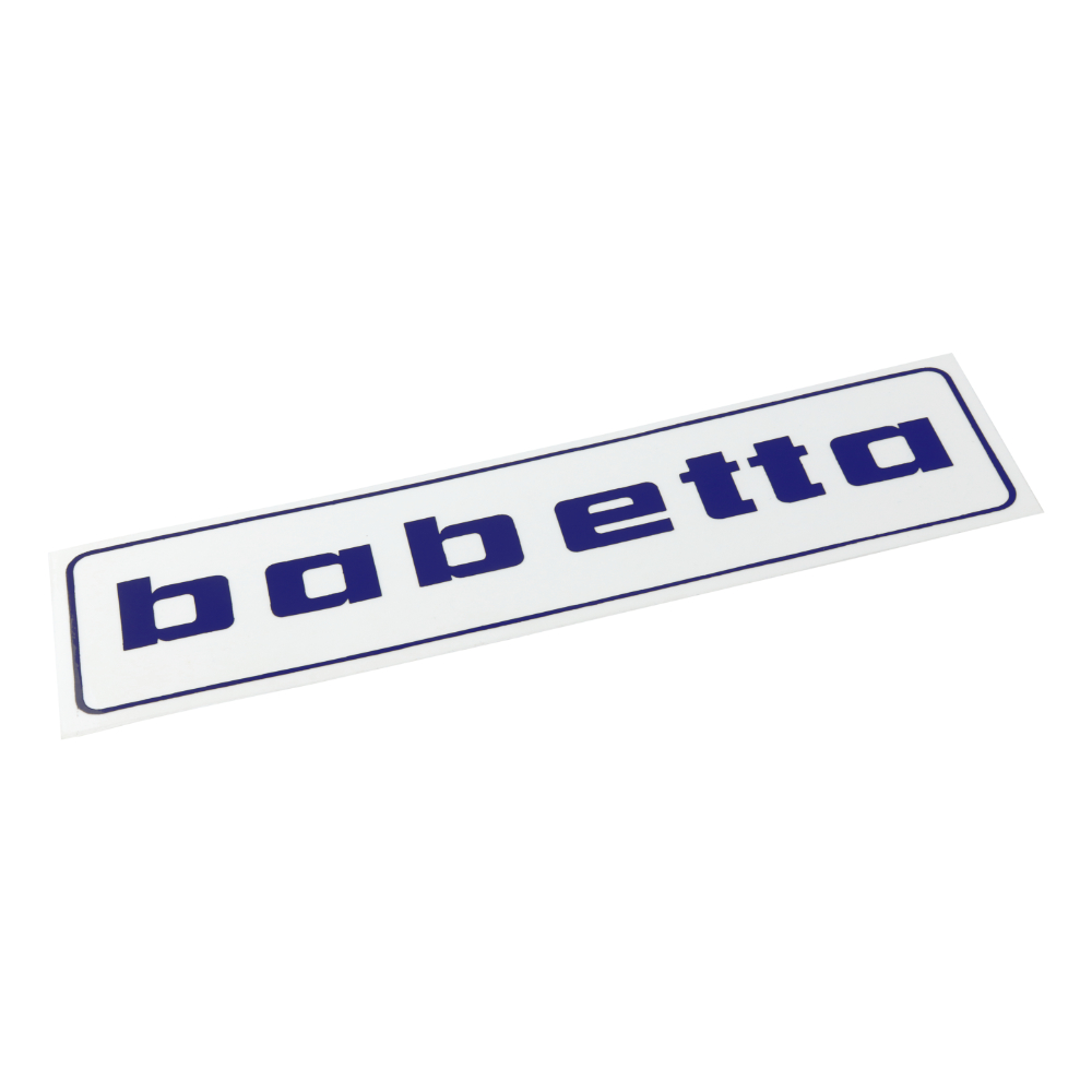 "Sticker ""babetta"", BLUE (140x37mm) - Babetta"