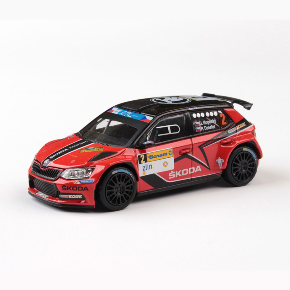 Model Škoda Fabia R5 (1:43), Jan KOPECKÝ #2 Barum Czech Rally Zlín 2016