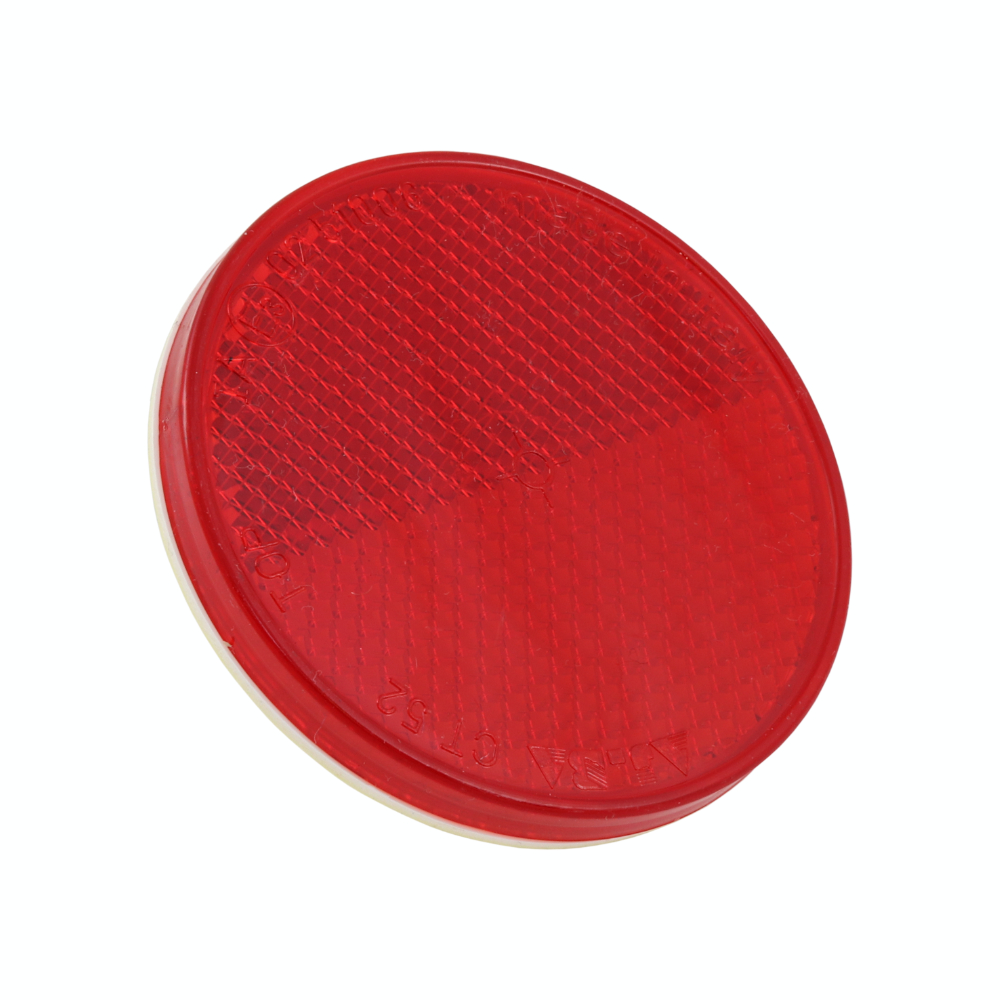 Reflector 60mm (round), RED, self-adhesive - UNI