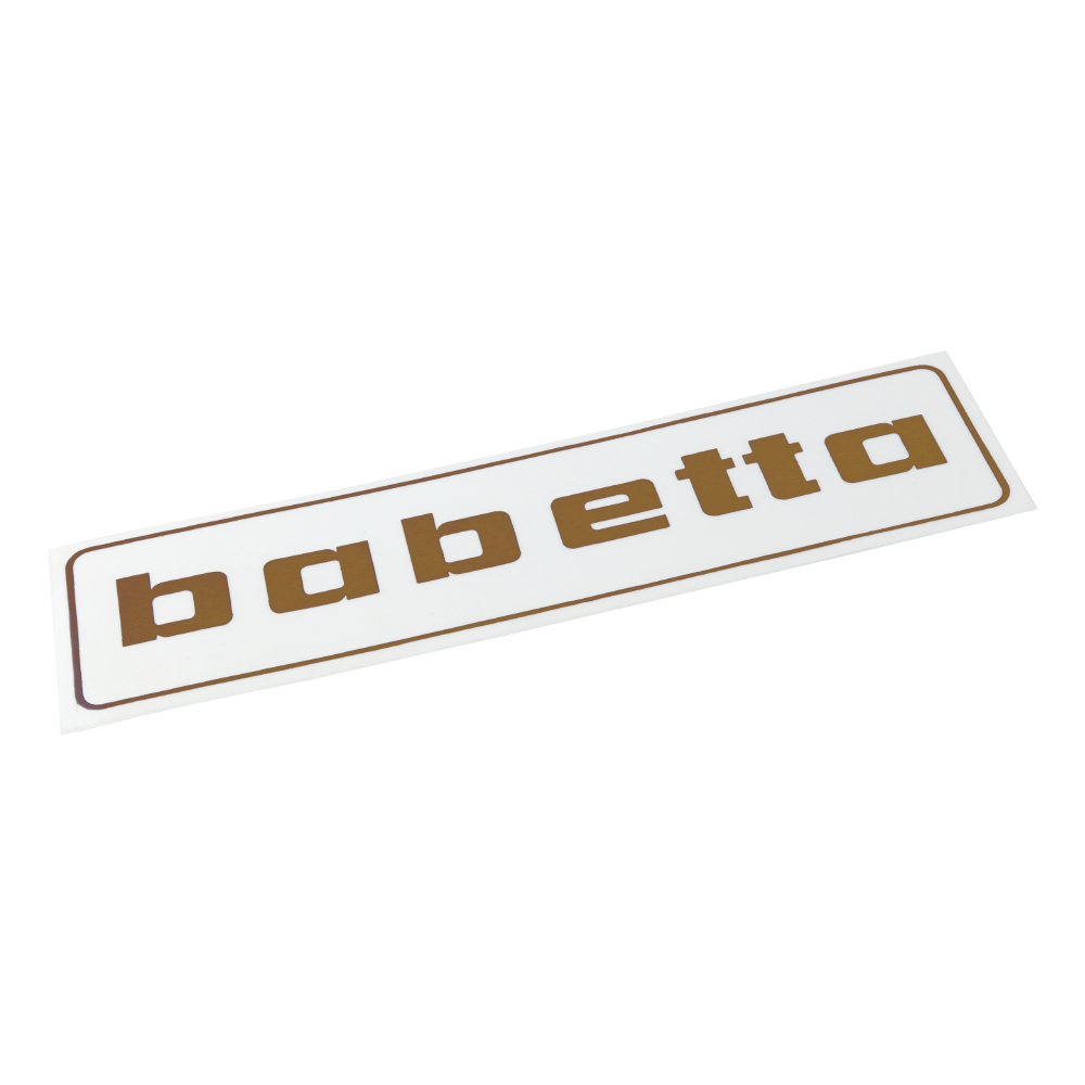 "Sticker ""babetta"", GOLD (140x37mm) - Babetta"