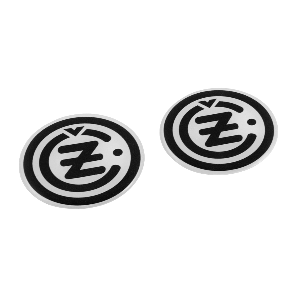 "Sticker ""3D effect"", BLACK-WHITE (2 pcs) - ČZ logo"