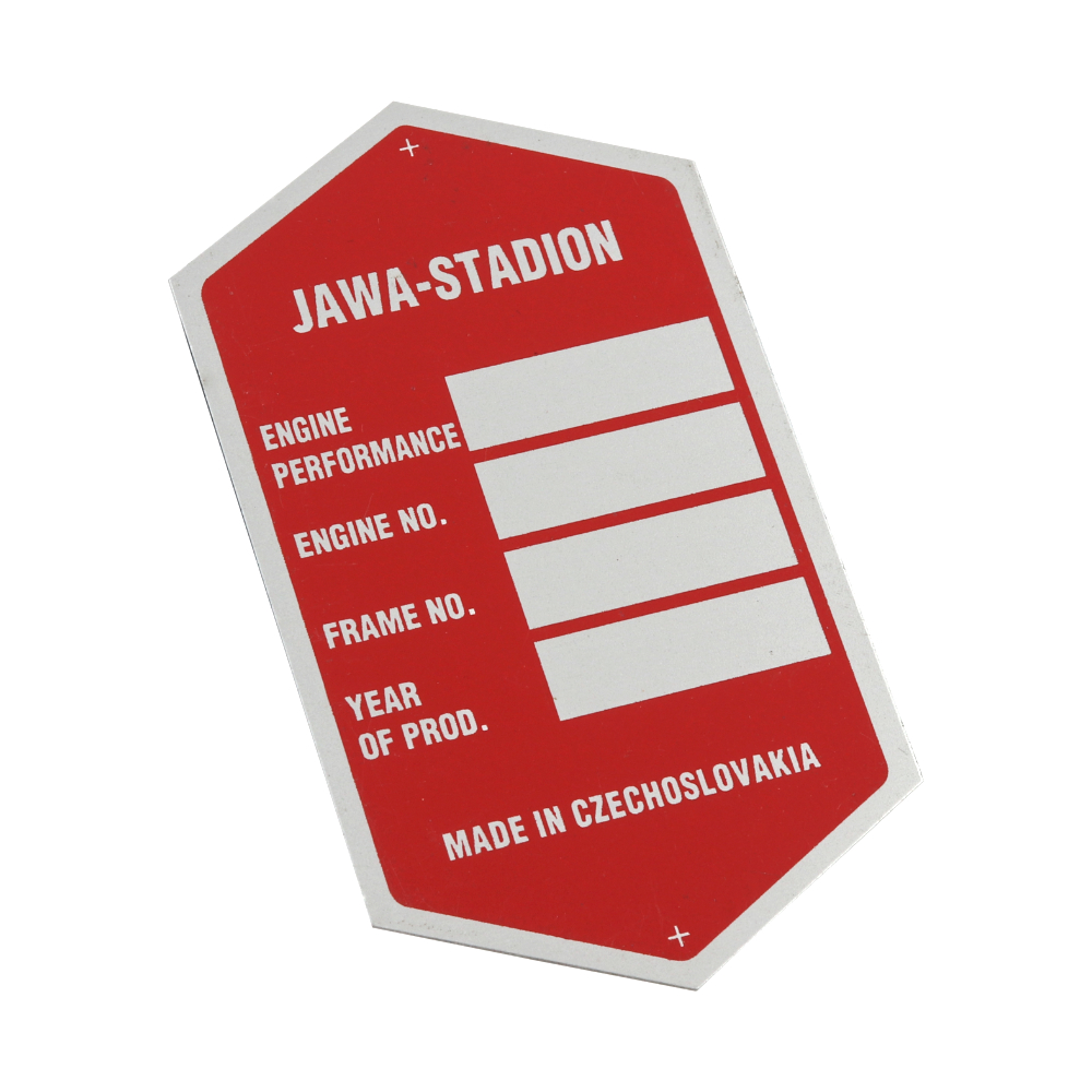 Frame label (printed), RED - Stadion S23
