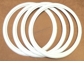 "Hems for tires  19"" - WHITE - set of 4 Pcs"