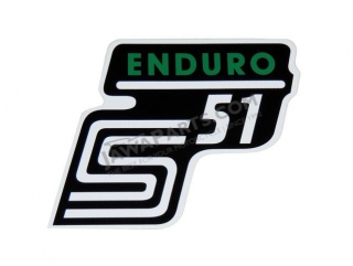 Sticker of cover ENDURO, GREEN - Simson S51