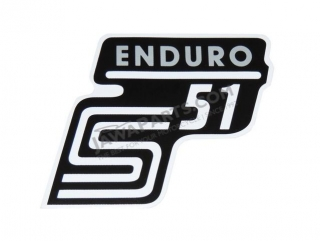 Sticker of cover ENDURO, SILVER - Simson S51