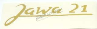 Stickers, GOLD (2pcs) - JAWA 21