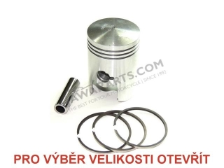 Piston set 53,00 (pin 18) - JAWA-ČZ 125, ČZ 125