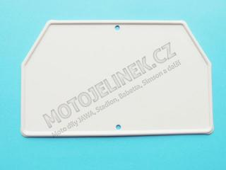 Number plate-REAR mudguard