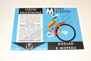 Certificate (card) for Stadion
