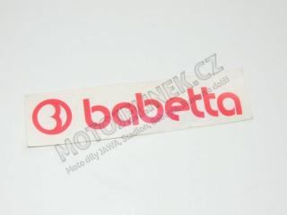 Sticker of tank Babetta-red