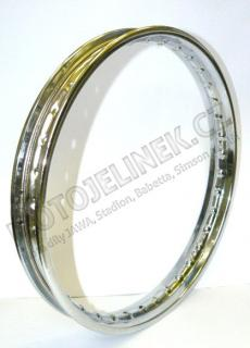 Wheel rim 16x1,4 CHROME (TWN) - Babetta