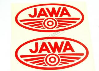 Sticker Jawa-RED-oval 2pcs
