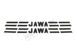 Sticker JAWA-tank of mustang 2pcs-black