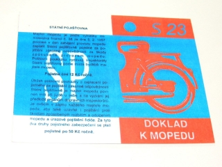Certificate (card) for Stadion S23