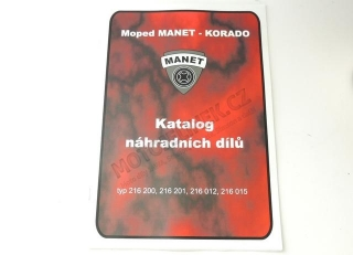 Catalog of spare parts  -Moped MANET-KORADO
