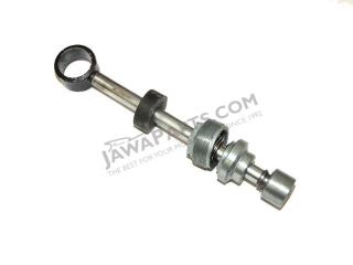 Piston rod of rear shock absorber pump, complete - JAWA 350 634-640, ČZ