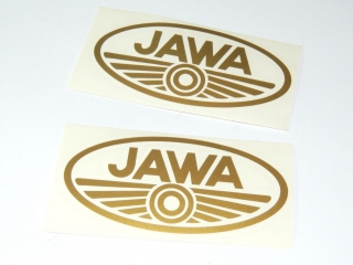 Sticker Jawa-GOLD-oval 2pcs