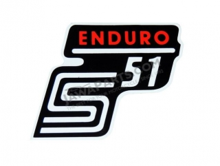 Sticker of cover ENDURO, RED 1 - Simson S51